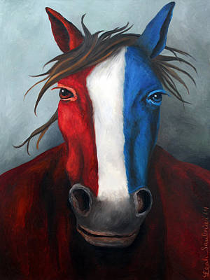 Betsy Ross Painting - American Spirit Edit 2 by Leah Saulnier The Painting Maniac