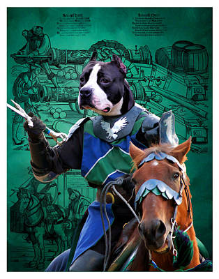 Painting - American Staffordshire Terrier Art Canvas Print - Knight by Sandra Sij