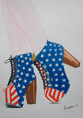 Painting - American Style by Kim Lagerhem