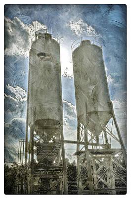 Photograph - American Super Silos by Davina Washington
