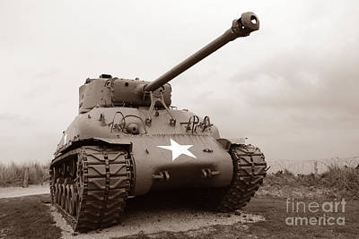 Historic Battle Site Photograph - American Tank by Olivier Le Queinec