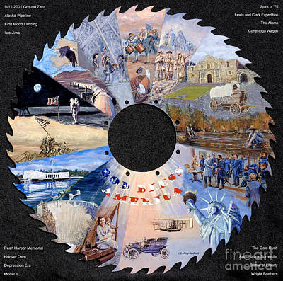 Painting - American Timeline by LeRoy Jesfield