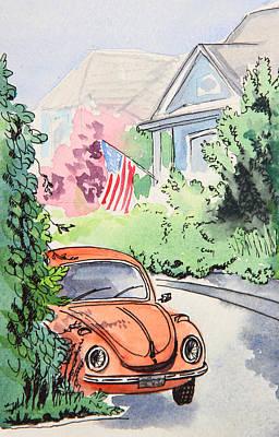 Painting - American Town by Masha Batkova