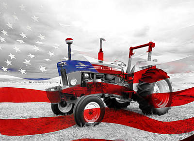 Photograph - American Tractor by Steve McKinzie