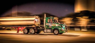 Landmarks Royalty Free Images - American Truckin Royalty-Free Image by David Morefield