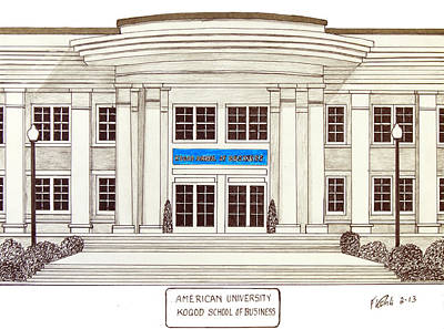 Drawing - American University by Frederic Kohli