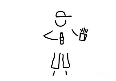 Hip Drawing - American Usa Fastfood Yank by Lineamentum