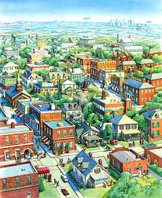 Painting - American Village by Dan Nelson
