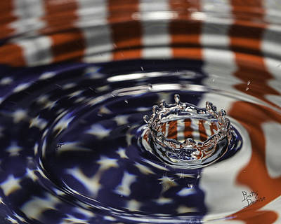 Art Print featuring the photograph American Water Crown by Betty Denise