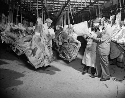 Carcass Photograph - American Wholesale Meat Market by Everett