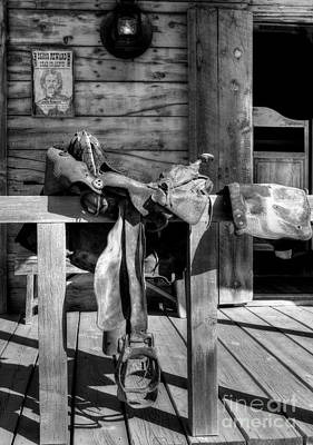 Photograph - American Wild West Bw by Mel Steinhauer