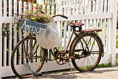 Two Wheeler Photograph - Americana by Art Block Collections
