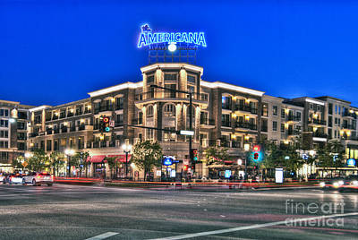 Photograph - Americana Brand Shopping Glendale Ca by David Zanzinger