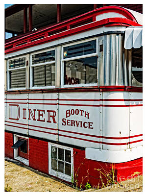 Americana Classic Dinner Booth Service Art Print by Edward Fielding