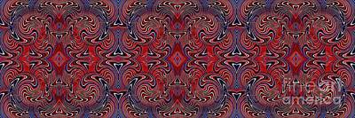 Memorial Day Digital Art - Americana Swirl Banner 1 by Sarah Loft