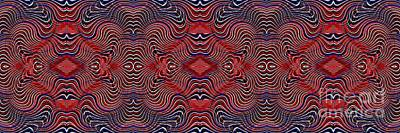 Memorial Day Digital Art - Americana Swirl Banner 2 by Sarah Loft