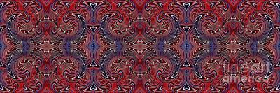 Memorial Day Digital Art - Americana Swirl Banner 3 by Sarah Loft