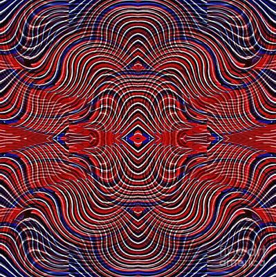 Digital Art - Americana Swirl Design 8 by Sarah Loft