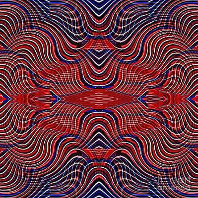 Digital Art - Americana Swirl Design 9 by Sarah Loft