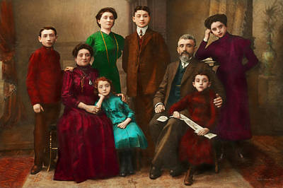 Americana - The Savatsky Family Art Print by Mike Savad