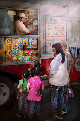 Photograph - Americana - Vendor - Serving Chocolate Ice Cream by Mike Savad