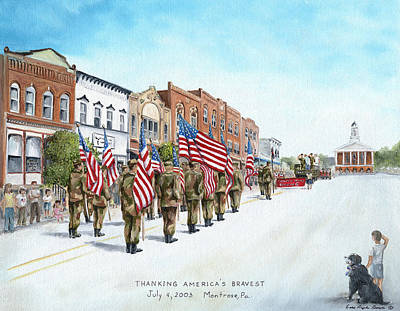 4th Of July Painting - America's Brave by Carol Angela Brown