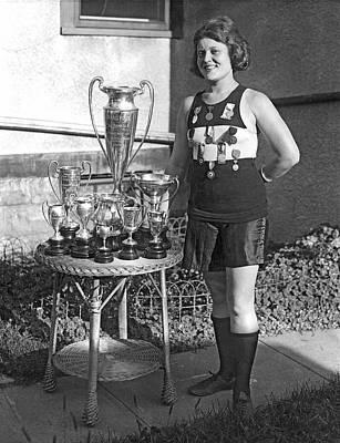 America's Champion Athlete. Art Print by Underwood Archives