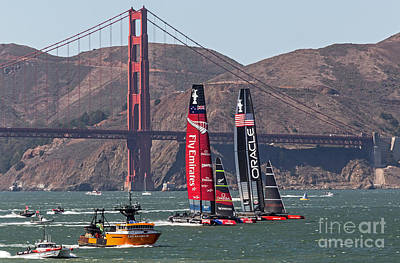 Photograph - Americas Cup At The Gate by Kate Brown