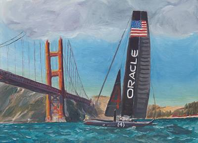 Americas Cup By The Golden Gate Art Print