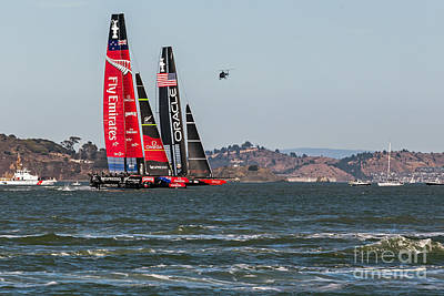 Photograph - Americas Cup Catamarans by Kate Brown