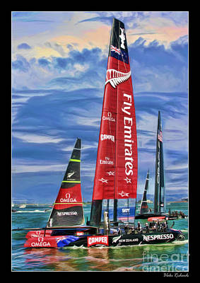 Photograph - America's Cup Emirates Team New Zealand by Blake Richards