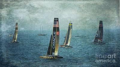 Americas Cup Racing - Oracle Art Print by Scott Cameron