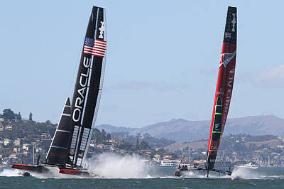 Photograph - America's Cup Sf Bay by Steven Lapkin