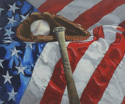 America's Game - Art By Bill Tomsa Original