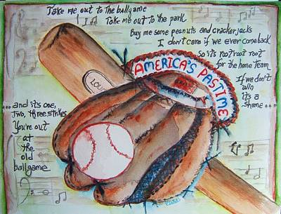 Slugger Painting - Americas Pastime II by Elaine Duras
