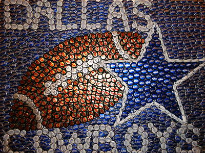 Bottle Cap Mixed Media - America's Star by Ruby Rammer
