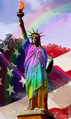 Digital Art - America's Statue Of Liberty by Michele Avanti