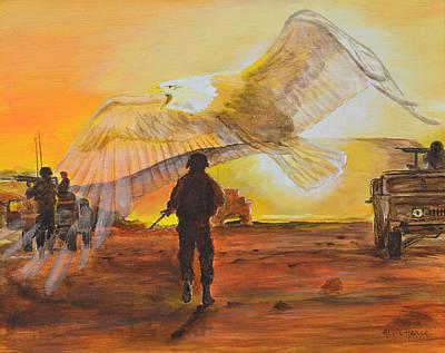 Iraq Painting - America's Symbols Of Freedom by Alvin Hepler