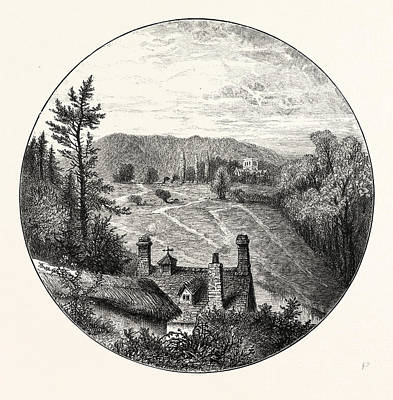 Amesbury Distant View Of The Church Print by English School