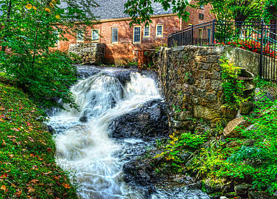 Photograph - Amesbury Waterfall by Rick Mosher