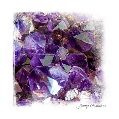 Semiprecious Photograph - Amethyst Crystals 1. Elegant Knickknacks by Jenny Rainbow
