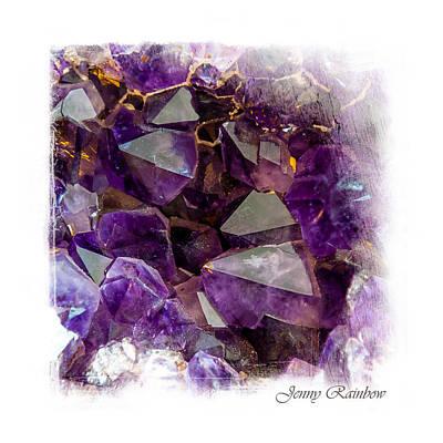 Semiprecious Photograph - Amethyst Crystals. Elegant Knickknacks From Jenny Rainbow by Jenny Rainbow
