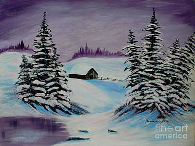 Amethyst Evening After Ross Original by Barbara Griffin
