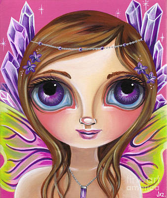 Pop Surrealism Painting - Amethyst Fairy by Jaz Higgins