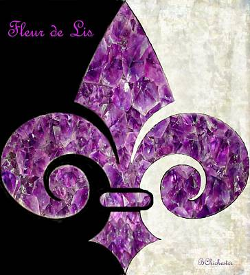 Insignia Painting - Amethyst Fleur De Lis by Barbara Chichester