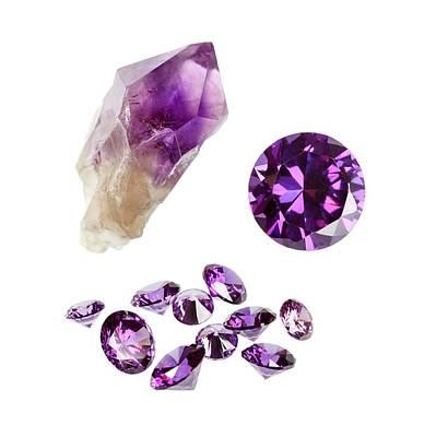 Amethyst Gemstones And Crystal Art Print