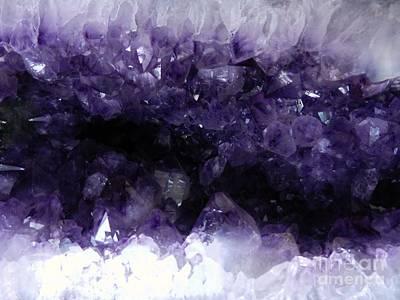 Amethyst Geode Art Print