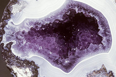 Photograph - Amethyst Geode by Louise K Broman