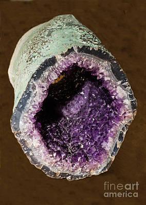 Inorganic Solid Photograph - Amethyst Geode by Millard H. Sharp