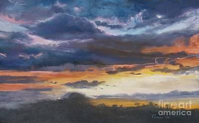Pastel - Amethyst Golden Aria  by Robin Maria Pedrero